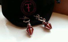 Silver Drop Earrings, Harrods, Carnival, Enamel, Jewelry Design, Jewellery, Elegant, Red, Silver Earrings