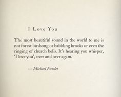 I Love You by Michael Faudet