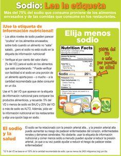 Use la etiqueta de información nutricional y reduzca el consumo de #sodio #sal #salud