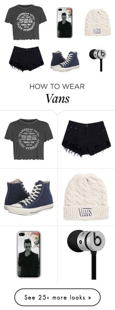 """""""Panic! At the disco"""" by act-on on Polyvore featuring Topshop, Vans, Converse and Beats by Dr. Dre"""