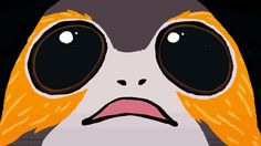 Porg's first hyperspace jump   Animated GIF   Star Wars
