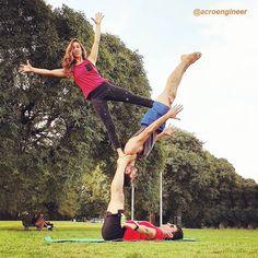 Acro Yoga Poses, Beautiful Yoga Poses, Gym, Board, Sports, Instagram, Advanced Yoga, Gymnasts, First Time