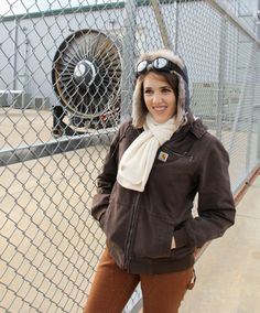 See how you can Amelia Earhart on Crafted in #Carhartt. It's a great last minute #Halloween costume!