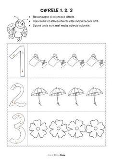 Preschool Activities At Home, Numbers Preschool, Kindergarten Worksheets, Worksheets For Kids, Printable Flower Coloring Pages, Experiment, Math For Kids, Kids Education, Kids And Parenting