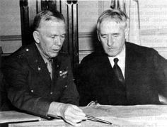 Picture - Marshall and Stimson. (Photograph taken in 1942.)