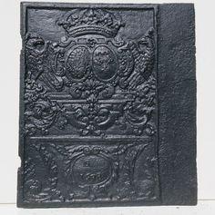 Allianzwappen Lothringen Bourbonen 1698 Seitenplatte eines Ofens - Coat of Arms of the Lorraine-Bourbon Alliance 1698 - Historic Firebacks - Antike Kaminplatten - Dr. Zenner