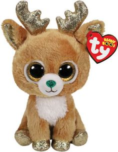 Ty Beanie Boo's Glitzy the Reindeer Soft Toy Christmas Beanie Boos, Ours Boyds, Ty Beanie Boos Collection, Ty Peluche, New Beanie Boos, Beanie Boo Birthdays, Ty Babies, Beanie Babies, Ty Stuffed Animals