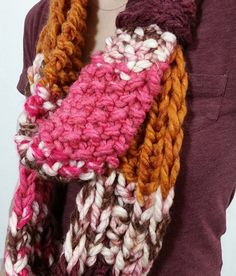 Double Take Cowl Knitting Loom ~*~ Free Pattern