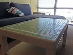Finished coffee table by orangecloudhandmade, via Flickr