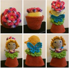 20+ Best Crochet Flower Pot Patterns #knitting #crochet #freeknittingpatterns #freecrochet