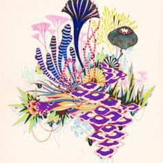 Fine Art Print - Radiance - by Yellena James Arte Coral, Coral Art, Art And Illustration, Yellena James, Organic Art, Grafik Design, Botanical Art, Prints For Sale, Amazing Art