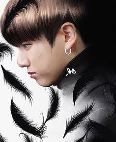 """519 curtidas, 39 comentários - ✍️ (@pngfanart) no Instagram: """"#btsfanart #jungkook #jeonjungkook #jjk #jungkookfanart #wings #btsart #fanart #digitalfanart…"""""""