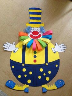 Clown craft idea for kids Paper plate and plastic plate clown craft ideas Paper clown crafts Clown wall decorations for classroom Foam clown craft ideas Balloon clown craft idea for preschoolers Clown Crafts, Circus Crafts, Carnival Crafts, Cd Crafts, Circus Art, Carnival Themes, Circus Theme, Plate Crafts, Preschool Crafts