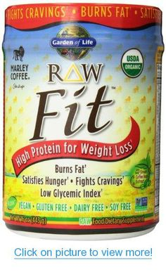 Garden of Life Raw Fit Protein Powder, Marley Coffee, 443 Gram
