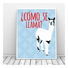 Como se Llama Art print; instant download. A cute and happy design that should bring some smiles and conversation to any room. In case you dont know,
