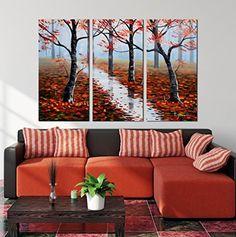 "Hand-Painted ""Mangrove"" 3-Piece Gallery-Wrapped Flower Oil Painting On Canvas Wall Art Deco Home Decoration Artland http://www.amazon.com/dp/B00W4LKDA0/ref=cm_sw_r_pi_dp_kjgQvb1S9CK64"