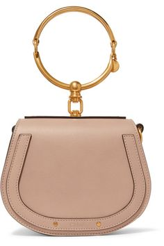 83e46a53f107 Chloé - Nile Bracelet leather and suede shoulder bag