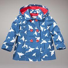 Buy John Lewis Tansy Bird Coat, Blue online at JohnLewis.com - John Lewis