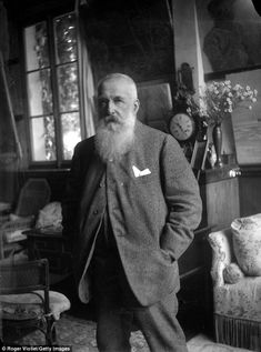 Another view from more than a century ago, Oscar-Claude Monet, in his house at Giverny in This is my colourised version of an original black, and white portrait Claude Monet, Edouard Manet, Pierre Auguste Renoir, Edgar Degas, Camille Pissarro, Paul Cezanne, Artist Monet, Impressionist Paintings, Art History