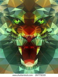 stock-vector-abstract-polygonal-tiger-geometric-hipster-illustration-polygonal-poster-267778319.jpg (354×470)