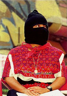 R - Commandante Ramona, officer of the Zapatista Army of National Liberation (EZLN), a revolutionary indigenous autonomist organization based in the southern Mexican state of Chiapas.
