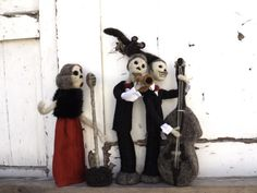 Halloween dead jazz band hand sculpted music creepy by Pupillae