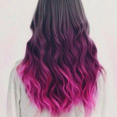 20 pretty ways to style pink ombre hair looks Black Hair Ombre, Best Ombre Hair, Long Black Hair, Red Ombre, Pink And Black Hair, White Hair, Girl Hair Colors, Hair Color Pink, Hair Dye Colors