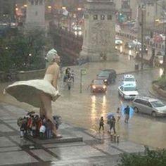 Raining in Chicago!