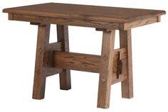45 x 30 Geneva Dining Table in Burnt Oak from Erik Organic