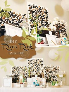 DIY Tutorial: River Rock Backdrop