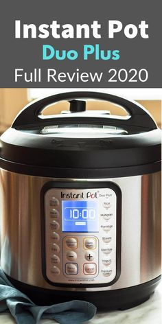 Instant Pot Duo Plus 9 in 1 Review (2020).  The Instant Pot Duo Plus 9-in-1 appeared on the market at the beginning of 2017 and is one of the latest models from the company. It comes with a lot of exciting features and is an upgraded version of the Best-Selling Kitchen appliance on Amazon the Instant Pot 7 in 1.  #instantpot #duoplus #instantpotrecipe #pressurecooking #pressurecooker