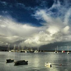 Apollo Bay harbour between rainshowers. #apollobay #greatoceanroad by johnlangmead http://ift.tt/1LQi8GE
