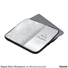 Elegant Silver Christmas & New Year Laptop Sleeve Silver Christmas, Christmas And New Year, Christmas Fun, Custom Laptop, Best Laptops, Personalized Products, Laptop Sleeves, Elegant, Gifts