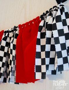 Race Car Fabric Bunting - FREE Shipping