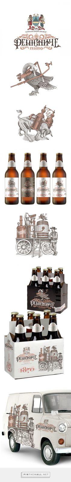 Remisnyche #Beer packaging designed by Umbra-design Studio - http://www.packagingoftheworld.com/2015/09/remisnyche-beer.html