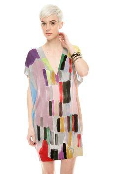 Aayama Itchome Brush-Print Tunic