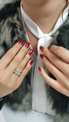 gel - red nails love it