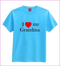 I love my Grandma T-shirt (children's) I Love My Grandma, My Love, Childrens Gifts, Handmade Gifts, Mens Tops, T Shirt, Stuff To Buy, Women, Kid Craft Gifts