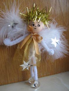 Výsledek obrázku pro vánoční výrobky na jarmark Christmas Angels, Christmas Ornaments, Pom Poms, Stuffed Mushrooms, Fairy, Dolls, Holiday Decor, Projects, Stuff Mushrooms