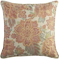 Flowers brighten any space, and the bold colors and mosaic design of our plush pillow fit the bill. Beautiful blooms crafted from soft polyester bring the feeling of spring to your favorite spaces.