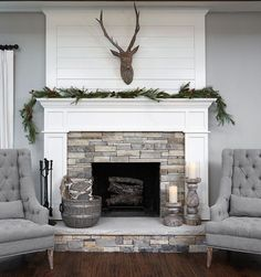 35 Awesome Farmhouse Fireplace Design Ideas To Beautify Your Living Room. Awesome Farmhouse Fireplace Design Ideas To Beautify Your Living Room Chimney presumably has a place with one of vital things to set in any house insides. Farmhouse Fireplace Mantels, Shiplap Fireplace, Small Fireplace, Home Fireplace, Fireplace Remodel, Living Room With Fireplace, Fireplace Surrounds, Fireplace Design, Fireplace Makeovers