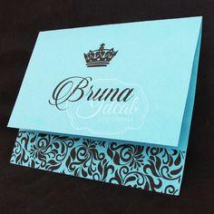 Convite 15 anos - Azul Tiffany | Ideal Conviteria | Elo7