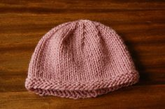 Ravelry: Learn to Knit Baby Hat pattern by Stacy Brooks
