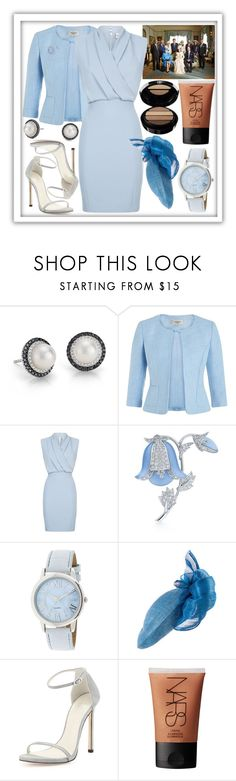 """Flashback #10 Attend the christening of Prince George of Cambridge"" by rosalie-of-belgium ❤ liked on Polyvore featuring Blue Nile, Precis Petite, Reiss, Kwiat, Stuart Weitzman, NARS Cosmetics and Giorgio Armani"