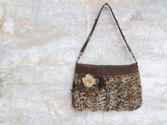Hey, I found this really awesome Etsy listing at https://www.etsy.com/listing/198272344/flower-hand-bag-beige-leather-wristlet