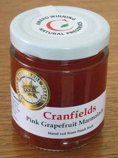 Cranfield Foods' tangy pink grapefruit marmalade achieved the ultimate accolade in the marmalade world - a double gold at the Marmalade Awards 2012. We'll be enjoying this jar from the Harbour Deli in Ilfacombe, North Devon at breakfast this Easter. http://www.cranfieldsfoods.co.uk/index.php/marmalades/pink-grapefruit-marmalade.html