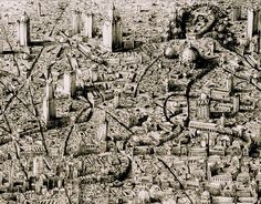 Hand-drawn cityscapes
