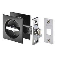 Gainsborough Matte Black Square Sliding Cavity Privacy Set