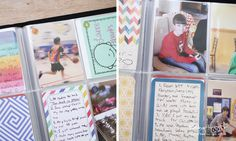 Kids who are old enough to be participating in documenting life, should be involved in documenting life. Photo albums even a kid can do. Project Life.