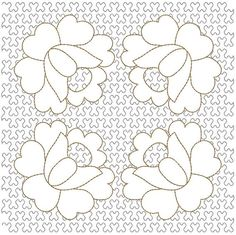 51 Ideas Embroidery Machine Quilting Designs Link For 2019 Machine Embroidery Quilts, Machine Quilting Designs, Machine Embroidery Projects, Applique Quilts, Quilting Ideas, Flower Pattern Design, The Design Files, Free Motion Quilting, Embroidery Techniques